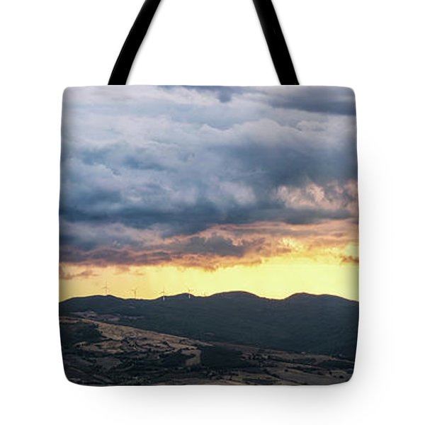 Golden Hour In Volterra Tote Bag