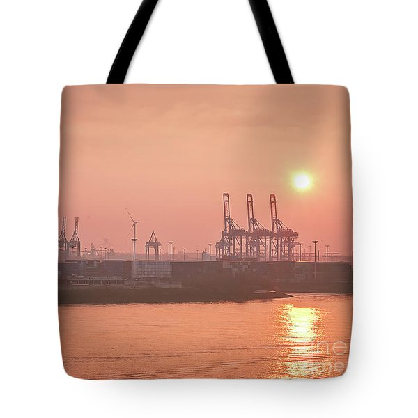 Golden Hour On The Elbe Tote Bag