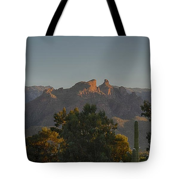 Tote Bag featuring the photograph Golden Hour On Thimble Peak by Dan McManus
