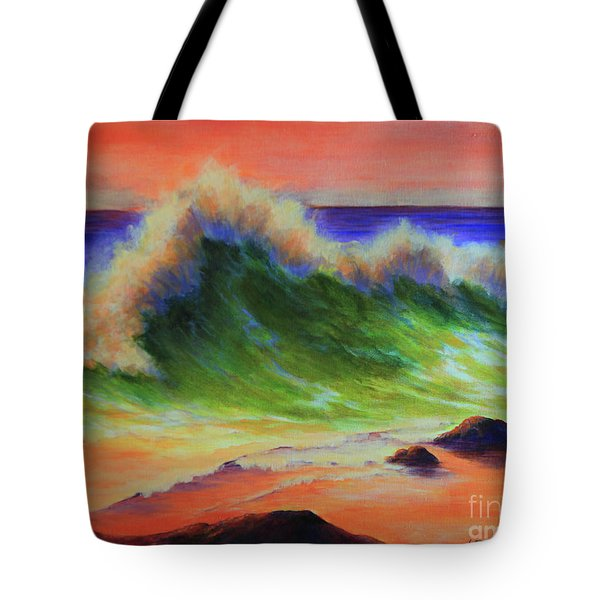 Golden Hour Sea Tote Bag by Jeanette French