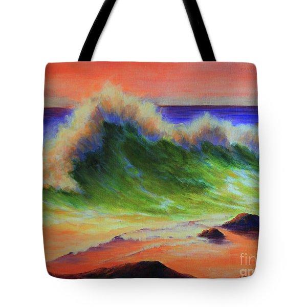 Golden Hour Sea Tote Bag