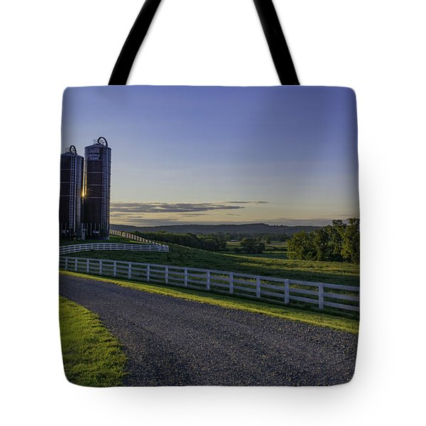 Golden Hour Silos Tote Bag