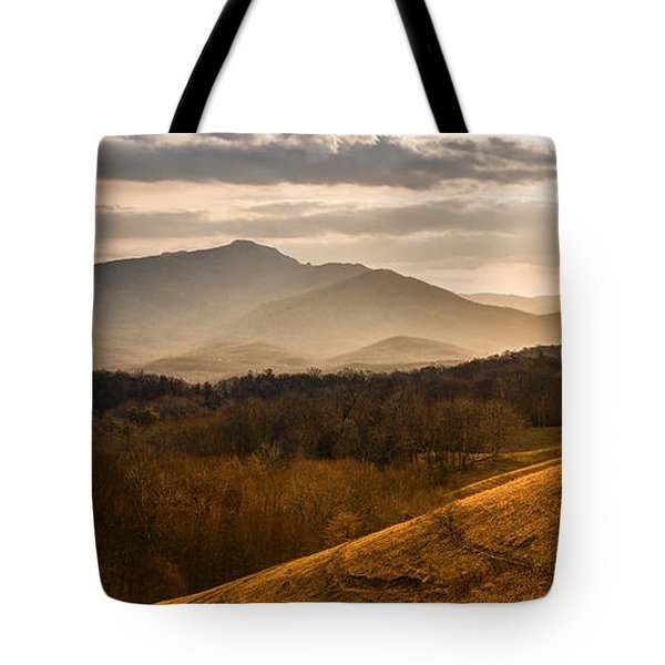 Grandfather Mountain Sunset - Moses Cone Blue Ridge Parkway Tote Bag