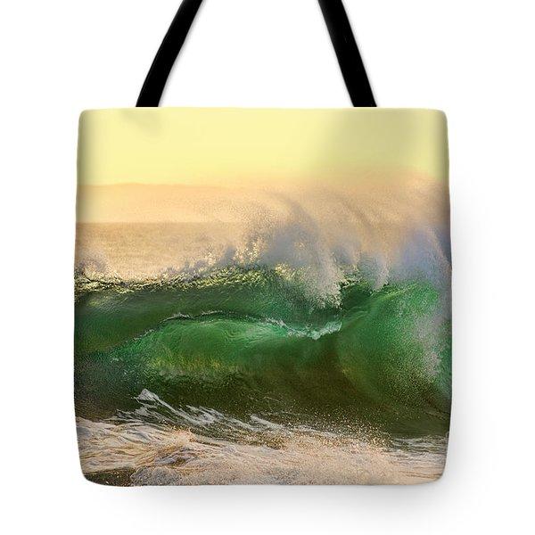 Golden Hour Waves Tote Bag