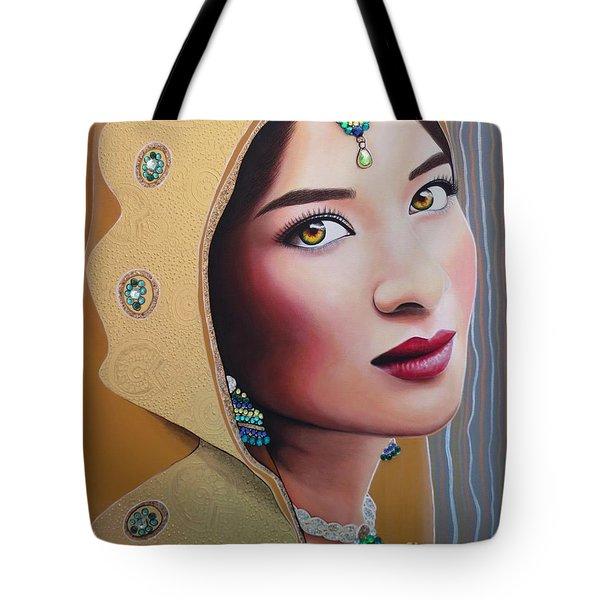 Golden Indian Bride Tote Bag