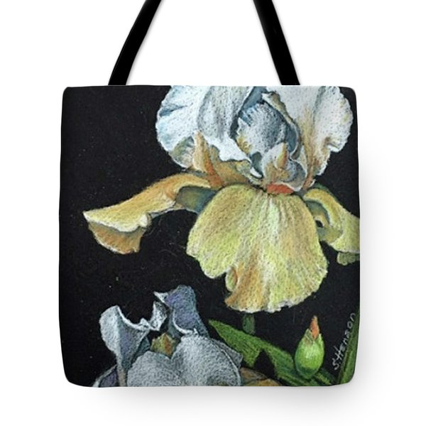 Golden Iris Tote Bag