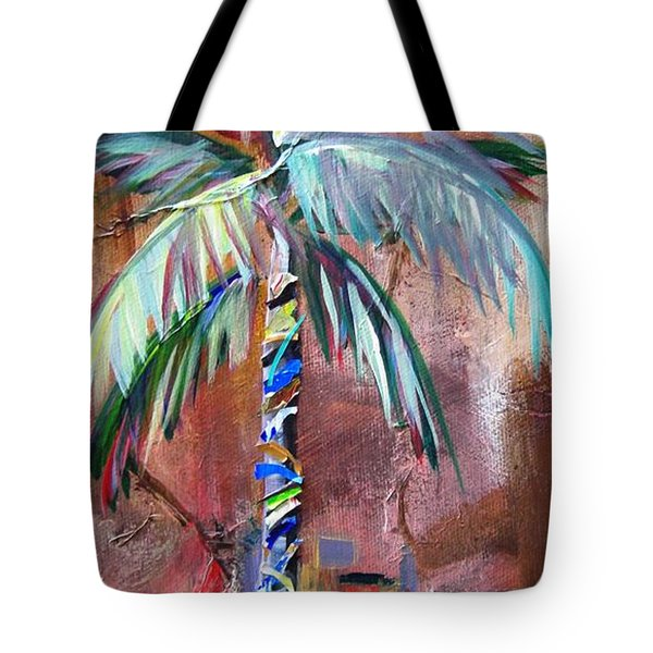 Golden Jasper Palm Tote Bag