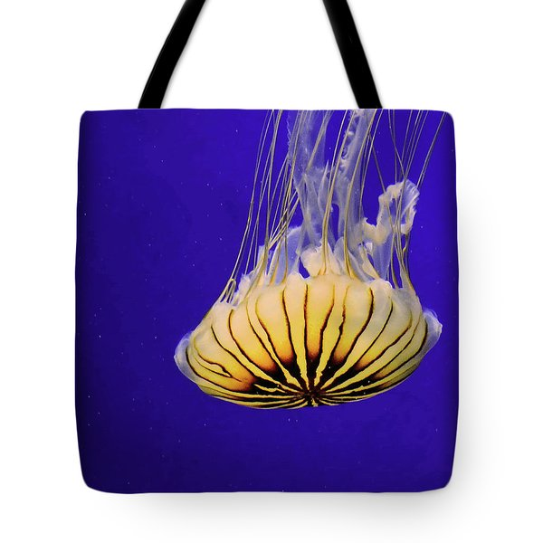 Golden Jellyfish Tote Bag