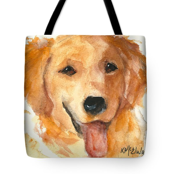 Golden Retriever Watercolor Painting By Kmcelwaine Tote Bag