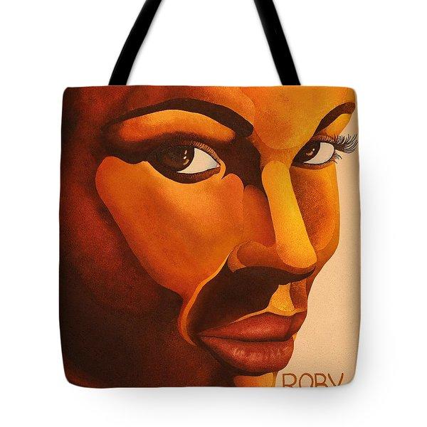 Golden Lady Tote Bag