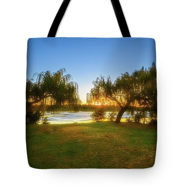 Tote Bag featuring the photograph Golden Lake, Yanchep National Park by Dave Catley
