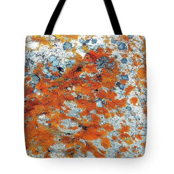 Golden Lichen Tote Bag