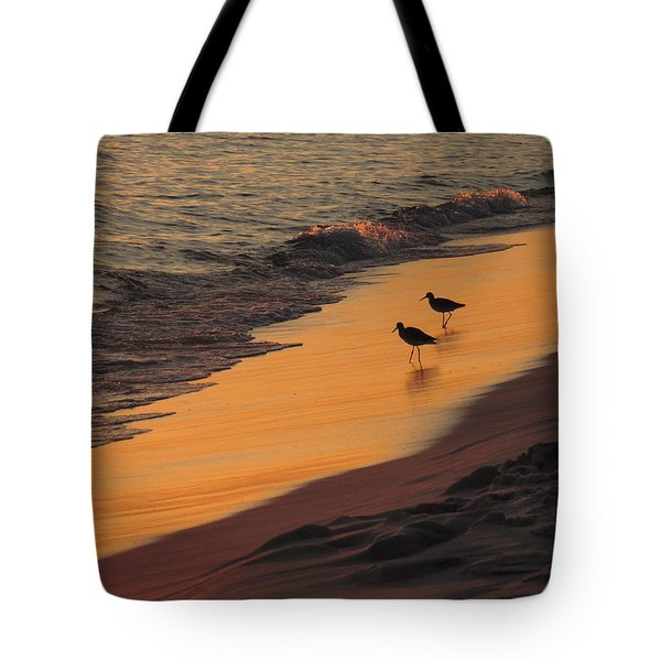 Golden Light At Sunset Tote Bag