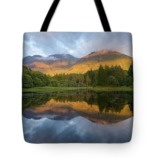 Golden Light At The Torren Lochan Tote Bag