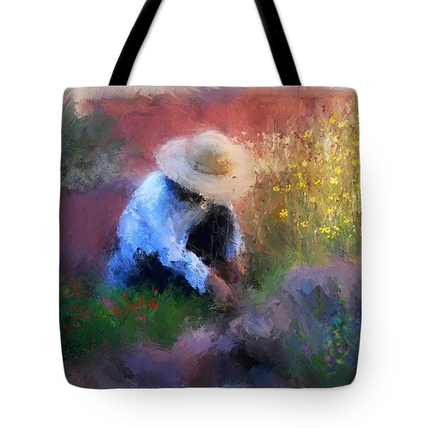 Golden Light Tote Bag by Colleen Taylor