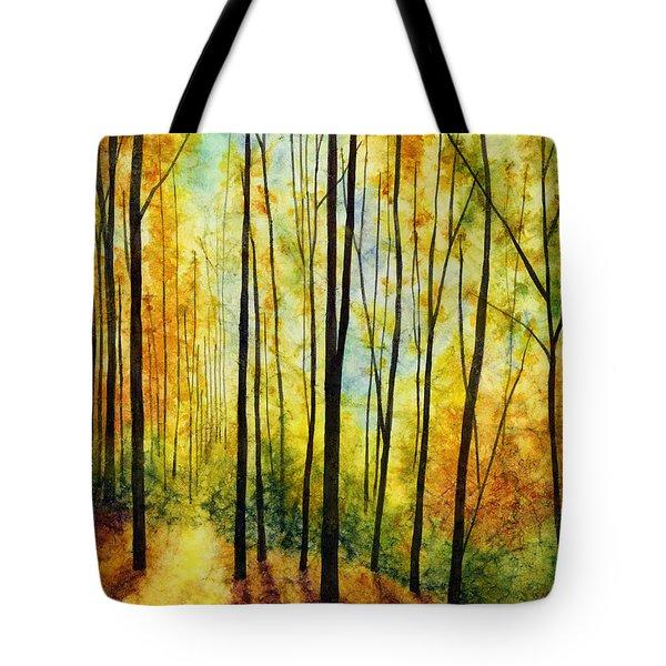 Golden Light Tote Bag by Hailey E Herrera
