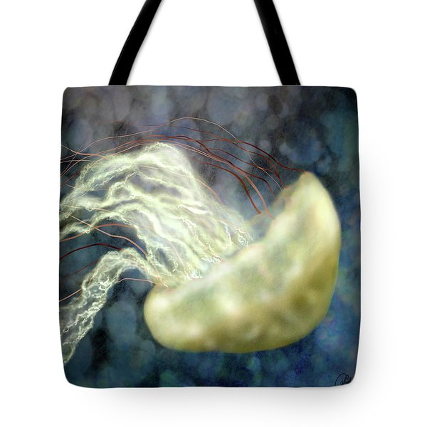Golden Light Jellyfish Tote Bag