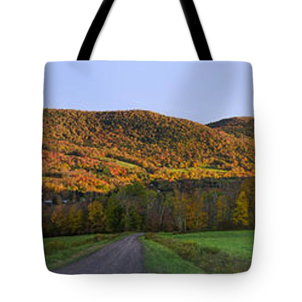 Tote Bag featuring the photograph Golden Light On The Catskills by Mark Papke