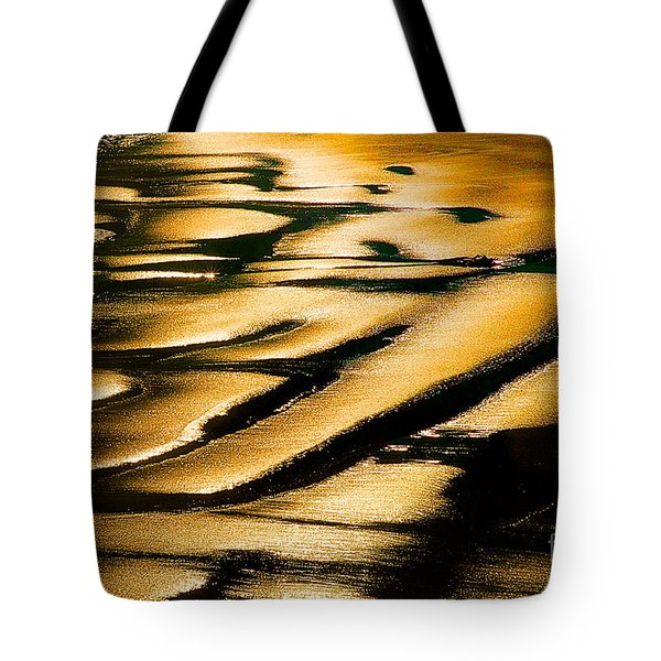 Golden Light On The Wet Sand, Point Reyes National Seashore Mar Tote Bag