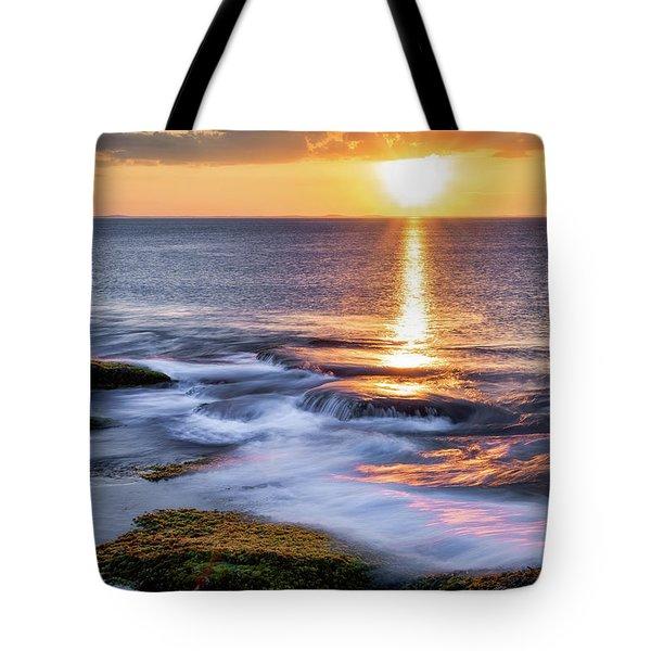 Golden Light Sunset, Rockport  Ma. Tote Bag