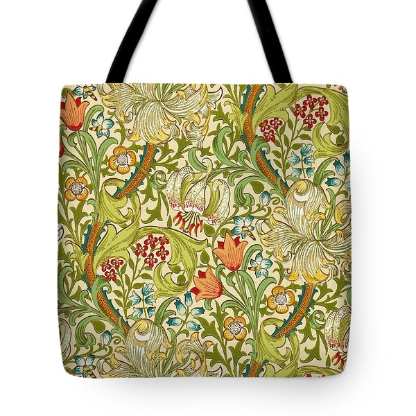Golden Lily Tote Bag