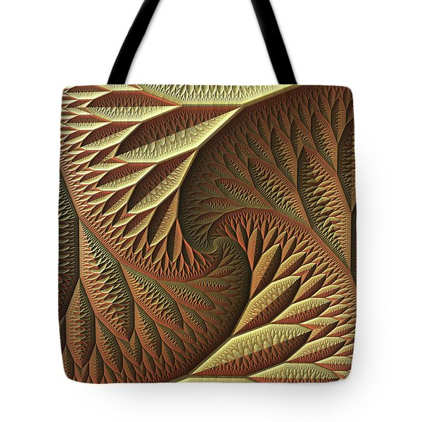 Tote Bag featuring the digital art Golden by Lyle Hatch