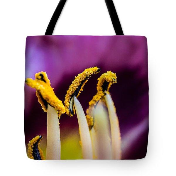Golden Macro Tote Bag