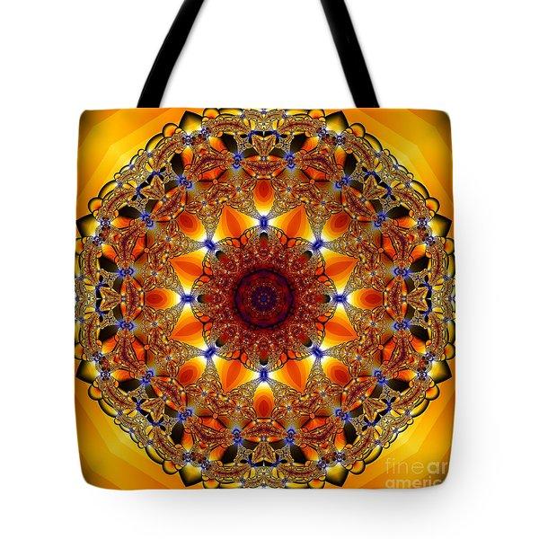 Golden Mandala Tote Bag