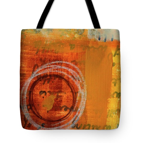 Tote Bag featuring the painting Golden Marks 11 by Nancy Merkle