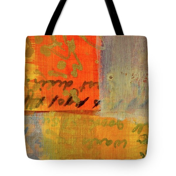 Tote Bag featuring the painting Golden Marks 12 by Nancy Merkle