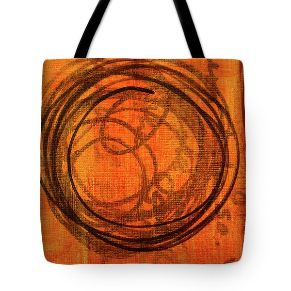 Tote Bag featuring the painting Golden Marks 9 by Nancy Merkle
