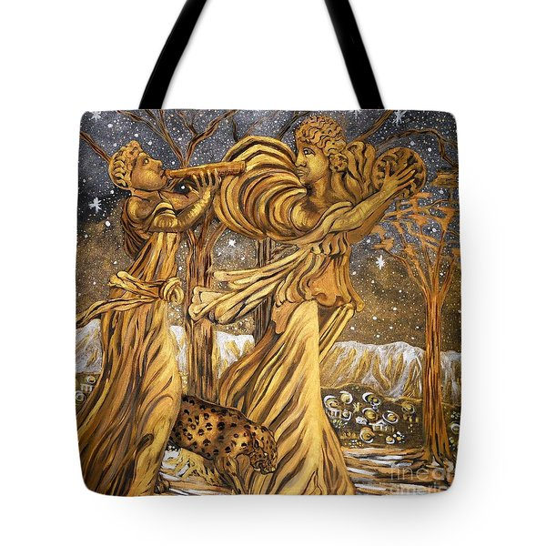Golden Minstrels. Tote Bag by Caroline Street