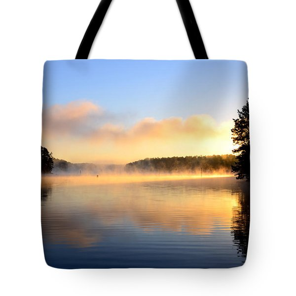 Golden Mist Tote Bag