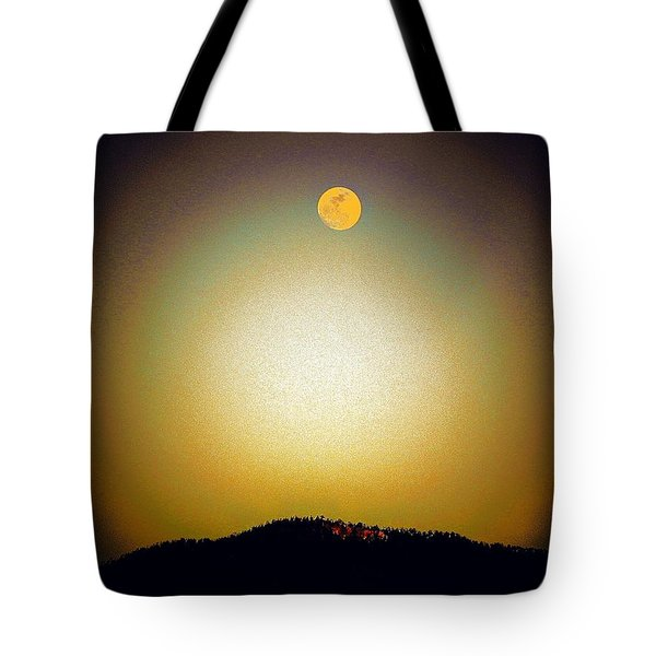 Tote Bag featuring the photograph Golden Moon by Joseph Frank Baraba