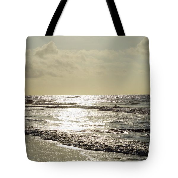 Golden Morning At Folly Tote Bag