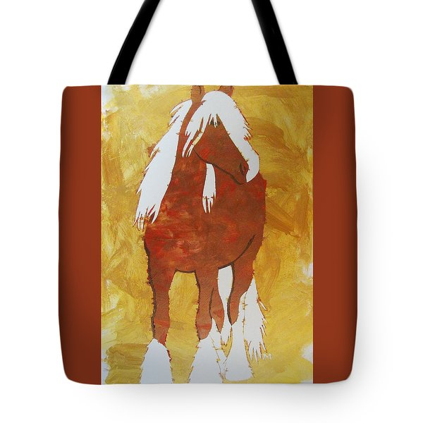 Tote Bag featuring the painting Golden Morning by Candace Shrope