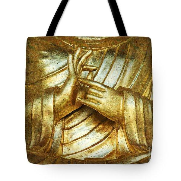 Golden Mudra Tote Bag