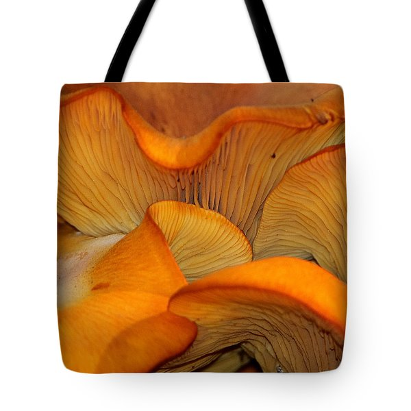 Golden Mushroom Abstract Tote Bag