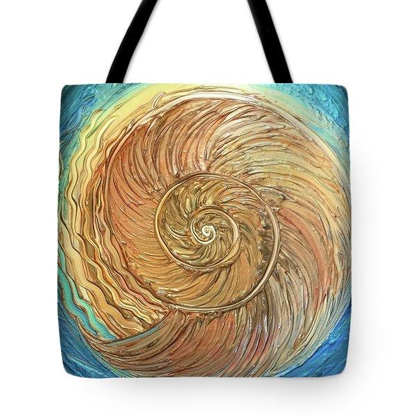 Golden Nautilus Tote Bag