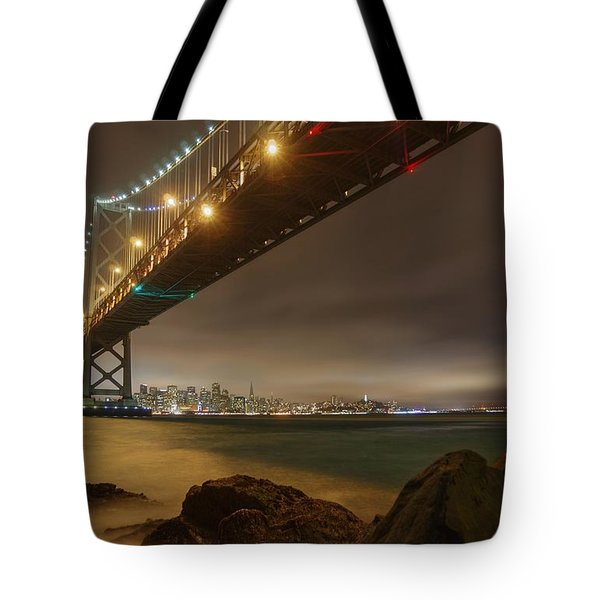 Golden Night Over The City Tote Bag