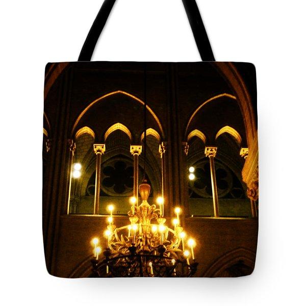Golden Notre Dame Tote Bag