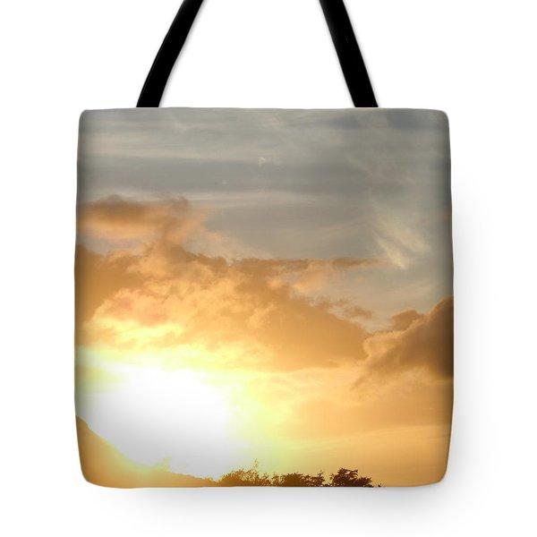 Golden Oahu Sunset Tote Bag