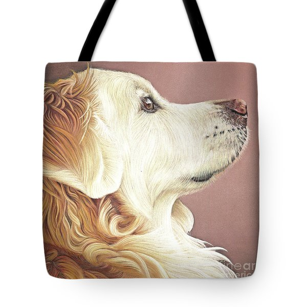 Tote Bag featuring the painting Golden Oldie by Donna Mulley