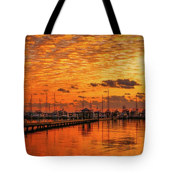 Golden Orange Sunrise Tote Bag