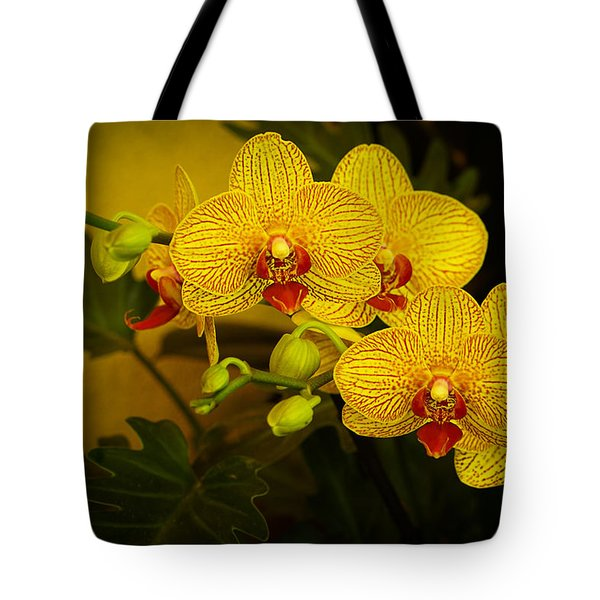 Golden Orchids Tote Bag
