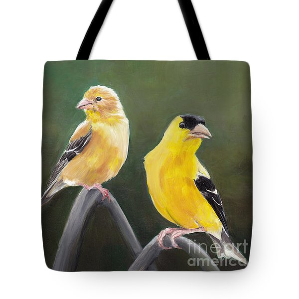 Golden Pair Tote Bag by Charlotte Yealey