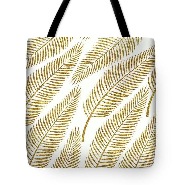 Golden Palm Tote Bag