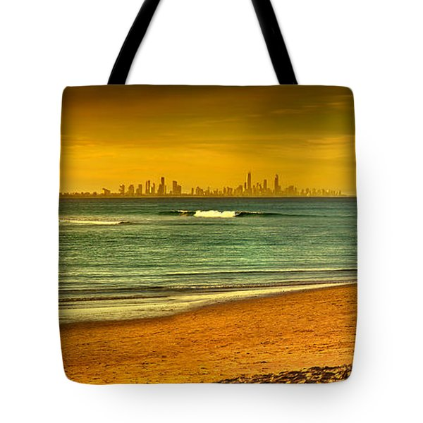 Golden Paradise Tote Bag