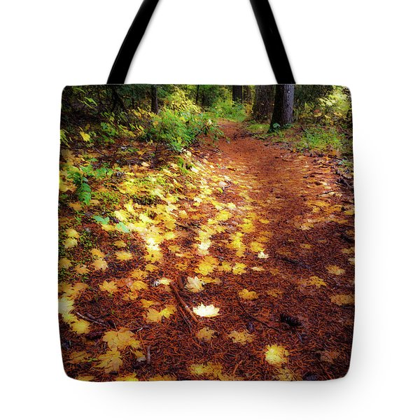 Tote Bag featuring the photograph Golden Path by Cat Connor