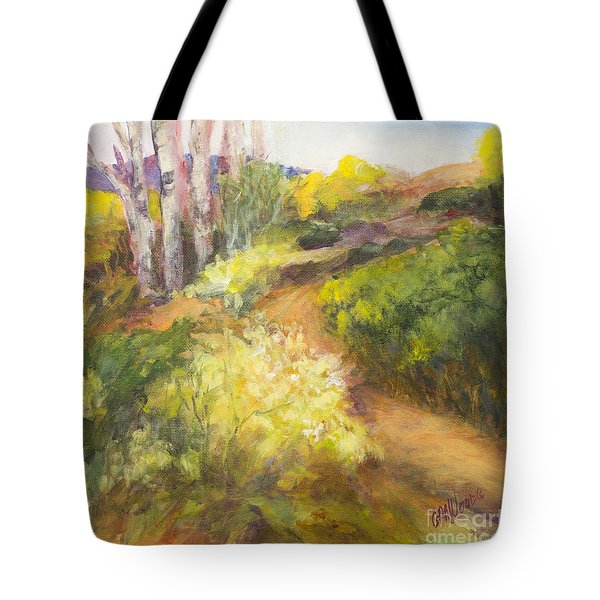 Golden Pathway Tote Bag